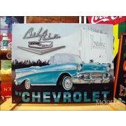 アメリカンブリキ看板 シボレー/Chevy ベルエア1957