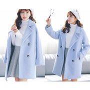 コート スリム Vネック 防寒保暖 無地 ダブルブレスト ファッション プレッピータイル #85760