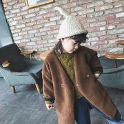 新しいデザイン キッズ洋服 女児 秋冬 中長デザイン 何でも似合う レジャー 子羊ウール