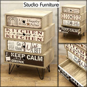 【Studio Furniture 】 組立家具★スタジオファニチャー 4段キャビネット002★