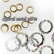 3サイズ【スパイラル】曲げれる リング ネイルパーツ 【高品質】メタル パーツ ネイル