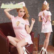 看護婦 ナース 制服 コスチューム コスプレ ハロウィン 仮装 衣装 2点セット bwn1087-1