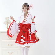 【即日出荷】巫女 アイドル風  コスプレ衣装 【7810】