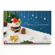 世界最小級のクリスマスプレゼント☆nanoblockクリスマスカード【サンタとえんとつB】