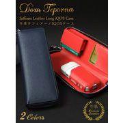 Dom Teporna アイコスケース 牛革 iQOSケース サフィアーノ ラウンドファスナー 2色