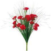 ポピー 造花 仏花 グラスカーネーションブッシュ 全長48cm・花径5cm レッド