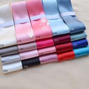 1メートル 両面サテン リボン 幅38mm 20色 ピンク、ブルー、黒白 手芸素材