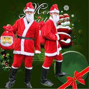 激安☆サンタクロース衣装★クリスマス◆cosplay★パーティー★仮装★帽子+ひげ+シャツ+ズボン+ベルト