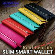 長財布 ウォレット HANSMARE SLIM SMART WALLET レディース クラッチ お札いれ 小銭入れ カード入れ