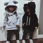 新品 秋冬バージョン キッズ洋服 児童 女児 赤ちゃん 帽子付き 手厚い 帽子付き ルー