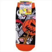 《ファッション》トム&ジェリー レディースソックス/ハロウィン かぼちゃ