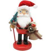 丸和貿易 クリスマス 飾り ナッツクラッカーオブジェ レッドサンタ S