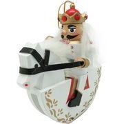 丸和貿易 クリスマス 飾り ナッツクラッカーオブジェ キヘイタイ S ホワイト