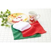 クリスマスマイクロファイバークロス3P /クリスマス キッチン マイクロファイバー ノベルティ