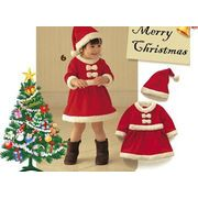 もこもこ帽子付き  子供 サンタキッズ ベビーサンタ ハロウィン衣装、サンタに変身