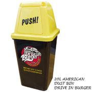 20L アメリカン ダストビン DRIVE IN BURGER 【ゴミ箱 / ダストボックス】
