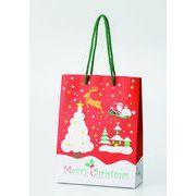 クリスマスペーパーバッグ(中) /クリスマス ペーパーバッグ 店舗 包装資材 イベント