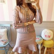 上下セット 2点セット カットソー スリム マチャプチャレ カットソー 花柄 ファッション 全3色 #29201