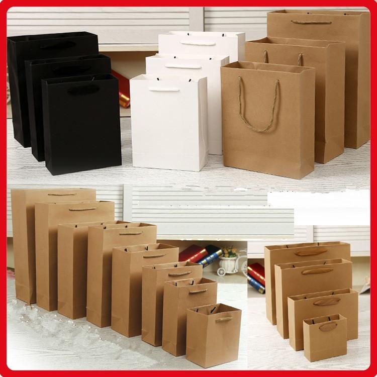 手提げ袋ギフトラッピング クラフト紙  [包装資材]縦型横型