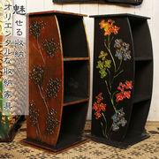 チェスト 3段 アジアン エスニック インテリア  家具 フラワー 収納【型番号2bb1-4】