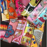 BLHW152233◆5000以上【送料無料】◆シルク調★バッグスカーフ/バッグ用マリン柄スカーフ★長方形