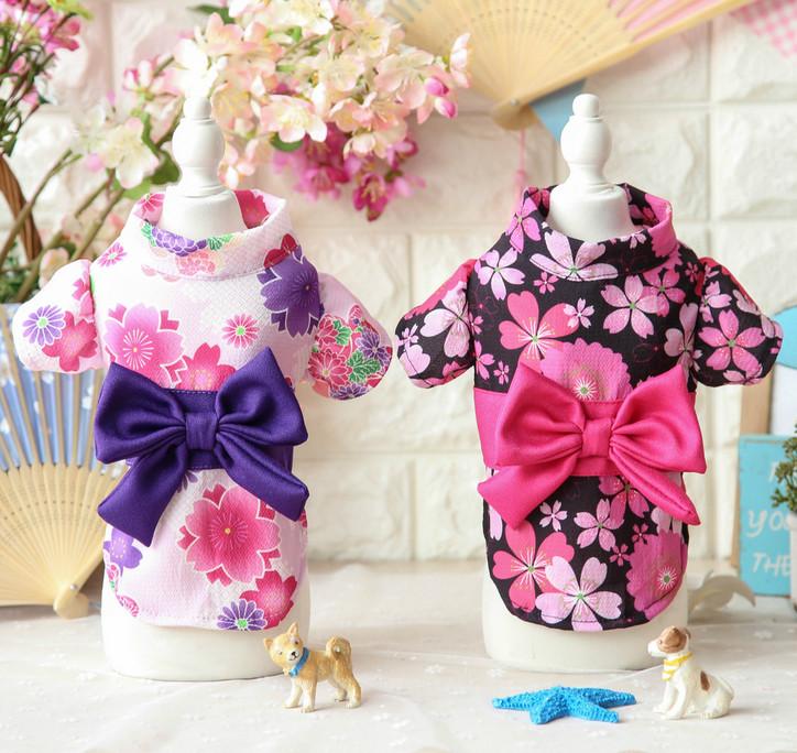 花柄ドッグウェア ワンチャン浴衣