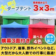 タープテント3X3m 3面横幕付