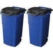 リス ゴミ箱 キャスターペール2輪 90C2 (90L) ブルー 2個セット