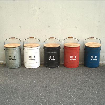 収納+スツール★便利なドラム缶風ボックススツール【タブレビドン・ボックススツール】