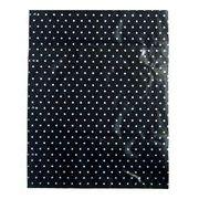 【激安】特大ポリ袋 水玉(黒地/白) 巾48×長さ65×横マチ10cm 厚み0.08mm