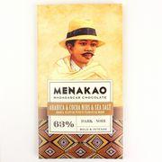 メナカオ ダークチョコレート63% コーヒー&カカオニブ&フルール・ド・セル 75G