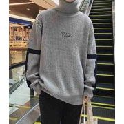 秋冬メンズセーター ルーズセーター カジュアル シンプル♪グレー/ブラック/グリーン3色