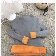 秋冬 新しいデザイン 韓国風 セミハイ襟 暖かい ボトムシャツ 短いスタイル ヘッジ 着