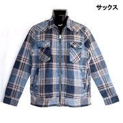 【2017AW新作】インディゴチェック 裏ボア ウエスタン ZIPシャツジャケット