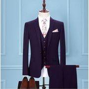 新品 ハイエンド  5点セットスーツ フォーマル スリーピーススーツ 結婚式メンズファッション 披露宴 通勤
