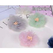 DIY用お花飾り - 手芸 クラフト 生地 材料   全6色