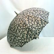 【日本製】【長傘】【雨傘】牡丹唐草柄12本骨手開き晴雨兼用長傘