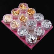 1セット ネイルホイル foil 箔 2色 3種類 ゴールド シルバー キラキラ ジェルネイル UVレジン封入パーツ