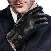 人気 レザー グローブ フリース メンズ 男性用 革 手ぶくろ 秋冬 防寒 手袋 裏起毛 暖かい バイク 自転車
