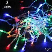 LED電飾クリスマスツリー光るインテリア/セット販売のみ/乾電池式10m 100球