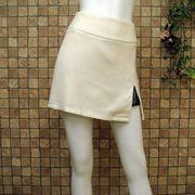 【在庫処分セール】スリット&レース♪ウール混ミニスカート
