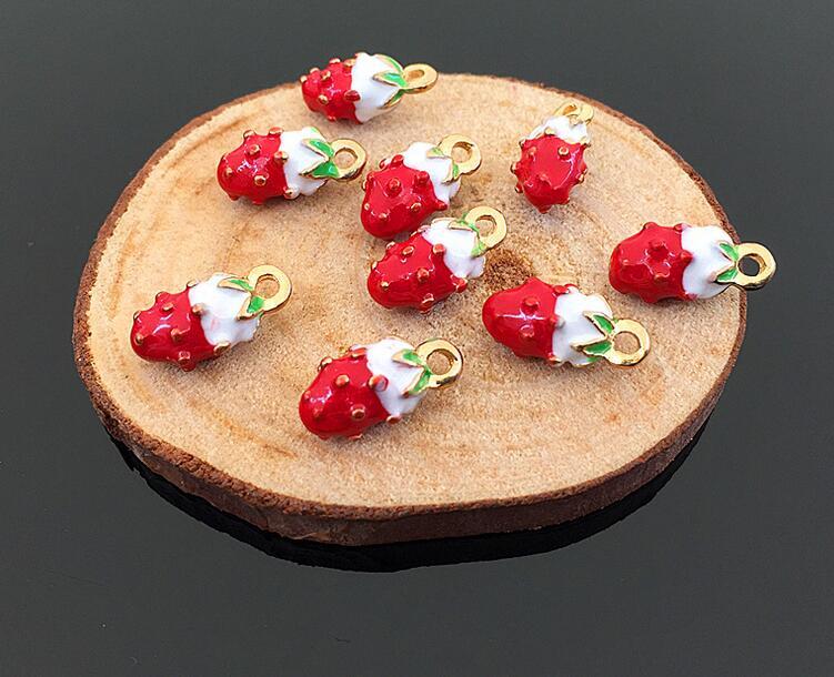イチゴ 苺パーツ ストロベリー 果物 フルーツ メタルチャーム