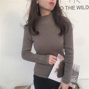 秋冬 新しいデザイン 韓国風 裏起毛 手厚い セーター 着やせ 長袖 セット ニット ヘ