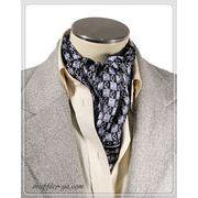 プリント柄袋縫いエレガントなメンズ用100%シルクスカーフ 1094c