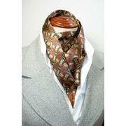 袋縫いエレガントなプリント柄入りメンズ用100%シルクロングスカーフ 1037d