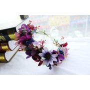 ウェディング髪飾り 花かんむり お花の冠