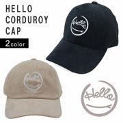 帽子 キャップ メンズ レディース コーデュロイ 刺繍 ロゴ ハロー サーフ キーズ Keys