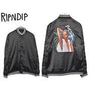 【リップンディップ】 RND1803 ジャケット シェア サム ラブ サテン ブラック メンズ レディース