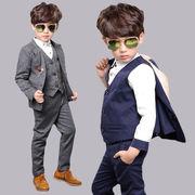 男の子スーツ  発表会 結婚式 子供服 フォーマルスーツ  子供スーツ  卒業式  スーツ 3点セット