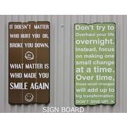 【ビンテージ風 SIGN BOARD】SMAIL AGAIN/DON'T TRY